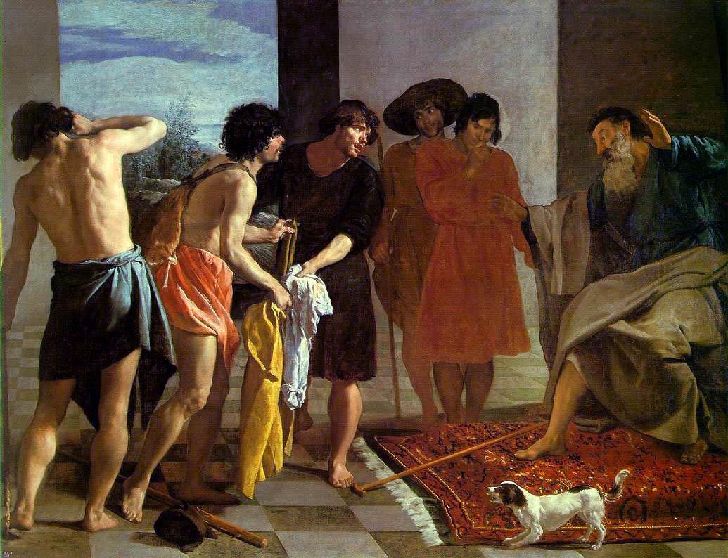 Joseph's Bloody Coat Brought to Jacob by Diego Velazquez. Wikimedia.
