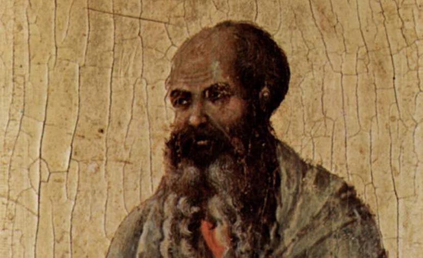 From The Prophet Malachi by Duccio di Buoninsegna, c. 1310 at the Museo dell'Opera del Duomo, Siena Cathedral. Wikimedia.