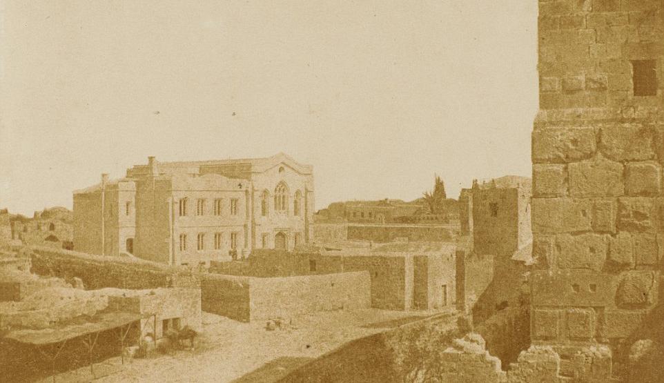 A 19th-century photograph ofJerusalem. George Bridges.