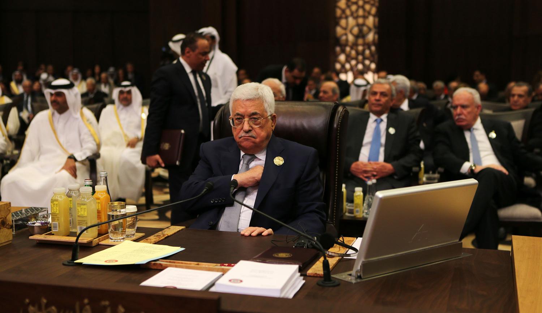 Mahmoud Abbas at anArab League summit inJordan on March 29, 2017. Jordan Pix/ Getty Images.