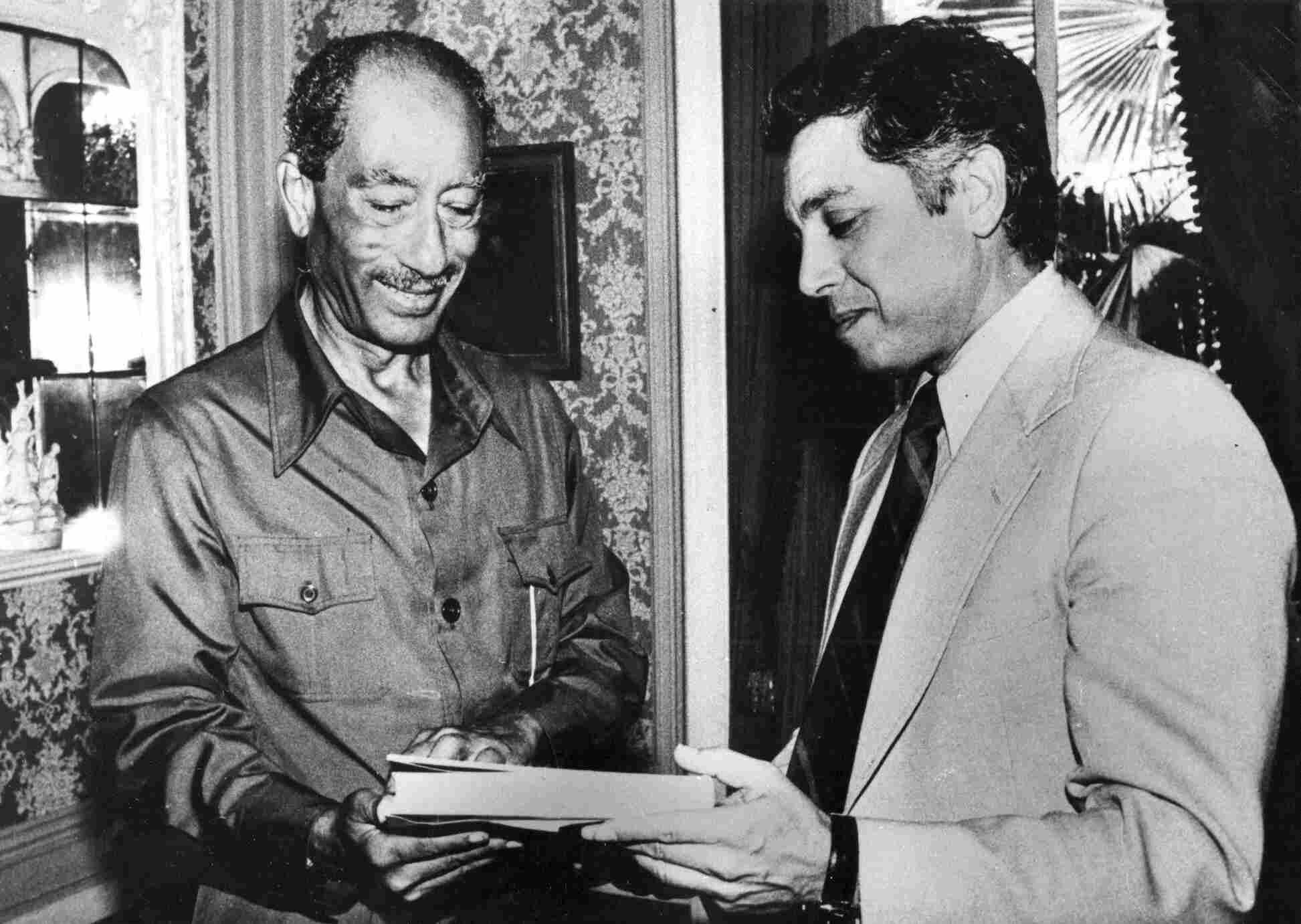 Anwar Sadat and Menahem Milson. Menahem Milson.