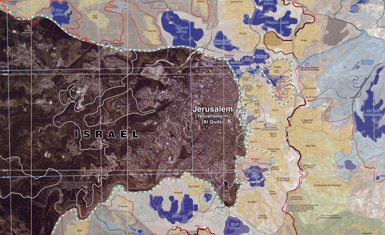 A Central Intelligence Agency map of Jerusalem in 2006. Wikipedia.