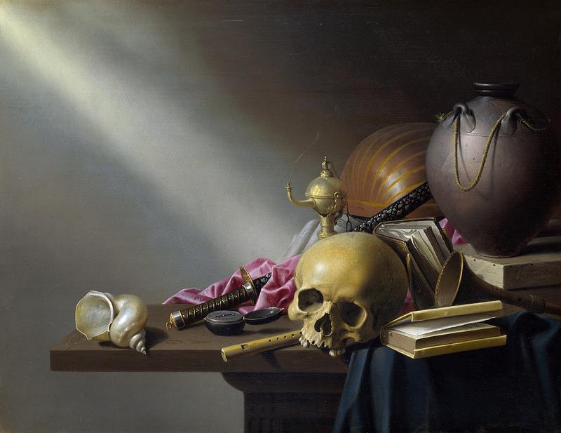 """Death Be Not Proud"": Vanitas Still Life Harmen Steenwyck, 1640."